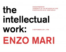 Enzo Mari: the intellectual work