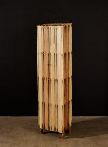 Peter Marigold. Tall Bleed Cabinet, 2014. Cedar wood, steel nails, 154 x 38 x 31 cm (1) Kopie